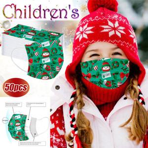 Маску для лица Рождества Детского Санта снеговика подарки печати дизайнер лицо маски дети и взрослых одноразовых моды Рождества печати маска для лица