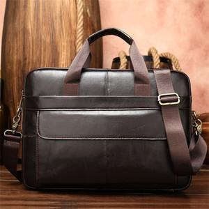 Westal Porte-documents en cuir véritable fourre-tout d'affaires pour hommes pour bureau Portable Document Sac épaule portable Hot Q1104