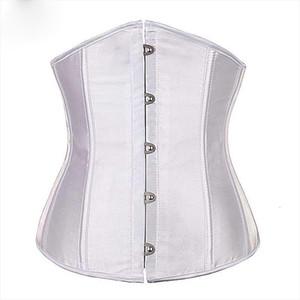 Underbust Corset Top 6XL Plus Size Sexy Women Outwear Simple Elegant Satin Bustier White Black Blue Gothic Waist Corselet 2833