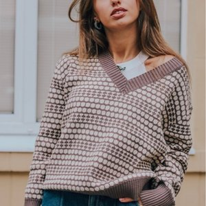 Thick Oversize Women Autumn Winter Pullover Sweater Outwear Jacquard Knitted Jumper Casual Warm Female Sweater Top 200930