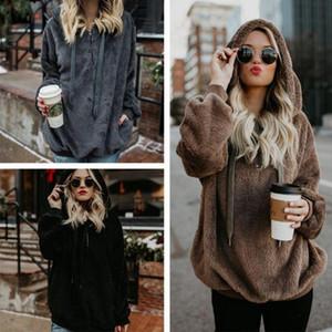 2020 Long-Sleeved Double Face Plush Hooded Slim Women's Casual Sports Hoodie Jacket Hoodie Streetwear