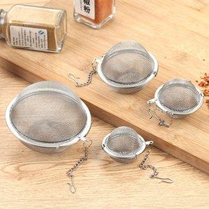 Acciaio inossidabile 304 della sfera della maglia del tè tè infuser Setacci filtri diffusori catena estesa strumenti Hook casa drinkware nave di goccia