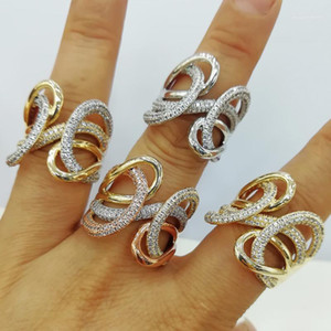 GODKI 2021 Trendy CROSSOVER Big Bold Statement Ring for Women Cubic Zircon Finger Rings Beads Charm Ring Bohemian Beach Jewelry1