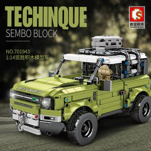Sembo 7010943 technical model car connected with 42110 land SUV auto Rover defended assembly 1:14 budget for children