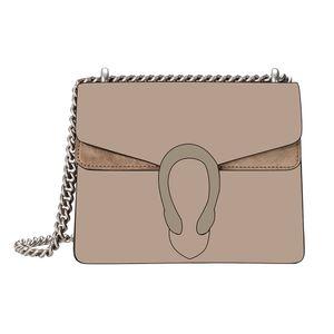 Serpent Vintage en cuir brun femmes Sacs à bandoulière Crossbody 2020 Nouveau Styliste chaîne sac à bandoulière femmes sac à main