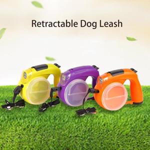 Отводящаяся собака поводок, 16FT Светоотражающая собака поводка для собак до 66 фунтов, выдвижной поводок с легким 3 цветами