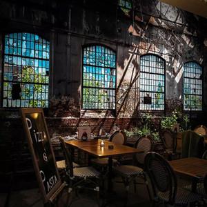 Custom 3D Photo Wallpaper Retro Industrial Wind Dilapidated Window Large Art Wall Painting Bar Restaurant Papier Peint Mural