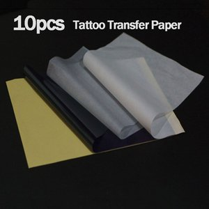 10Pcst 4 Layer Carbon Thermal Stencil Tattoo Transfer Paper Copy Paper Tracing Paper Professional Tattoo Supply Accesories