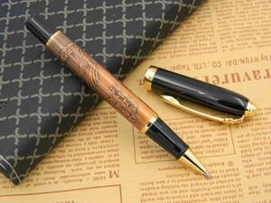 Ballpoint Pens Regalo Negro Alta Calidad Golden Eagle Pattern Pattern Rollerball Pen