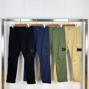 أعلى جودة البوصلة شارة التطريز البضائع السراويل الرجال النساء العسكرية مستقيم السراويل متعددة جيب عارضة القطن بنطلون الرجال 201128