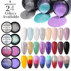 BORN PRETTY 24 Colors Gel Nail Polish 5ml Glitter Thermal Color Changing Gel Soak Off UV LED Varnish For Manicuring Design