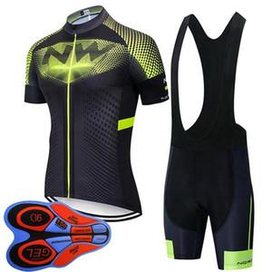 Nw Team 2020 New Cycling Short Sleeve Jersey (Bib )Shorts Set Pro Men Summer Breathable Cycling Jersey Kit Racing Sports Uniform Y092010