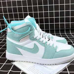 Sports shoes AJ Tiffany green high top couple shoes men women versatile casual basketball shoes qiaoyiban