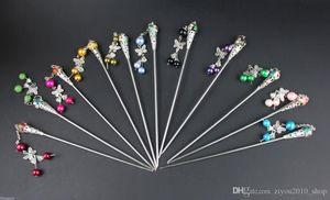 10pc bello stile cinese multicolore Cloisonne hairsticks