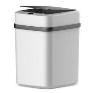 10L Smart Trash Can Automatic Induction Sensor Trash Can Dustbin Lid Motion Detector Bedroom No Noise Waste Bin C0930