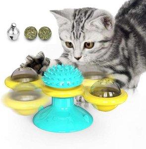 Windmill Cat Toy Turntable Teasing Interactive Cat Toy Interactive With Catnip Scratching Tickle Pet Ball Supplies