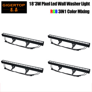 Guangzhou TIPTOP LED Pixel Light arandela de la pared 18x3W mezcla de colores RGB Cada LED puede ser controlada por separado DMX Pixel LED Long Bar