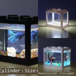 Nezsiglass Boncuk Takı Yapımı Kurşun Tankı Manzara DIY Balık Lego Blokları Için Tank Aqrium Mermerler Çocuk Oyuncak Işık Balık Dekor Işık