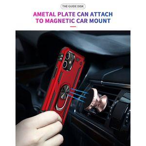 10pcs lot Shockproof Armor Back Phone Case For iPhone Mini Pro   12 Max SE2 SE 2020 With Car Ring Bracket