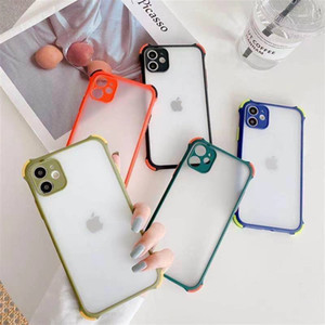 coque iphone 12 pro max phone cases Camera Protection Shockproof Bumper Phone Case For iPhone 11 Pro X XR XS Max 8 7 Plus Transparent Hard