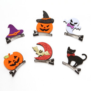 Hot style's new Halloween decorations adorns the cute bat ghost the wizard hat pumpkin black cat hair clip DDE2300