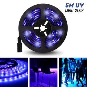 5M UV LIGHT STRIP FLEXIBLE LED LED Luz UV Purple Light Strip LED 3528SMD Impermeable IP65 / NO-impermeable DC12V con cabeza de DC