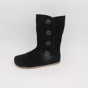 TipsieToes Top-Marke Barefoot Original LeatherToddler-Mädchen-Kind-Schuhe für Mode Winter-ZigZig Sole Boot C1002
