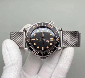 2021 Novos Homens Relógio 42mm Dial Cerâmica Relógio Relógio Relógio Automático Mecanismo Sapphire Vidro Aço Inoxidável Cinta dos homens