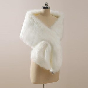 2021 Winter Wedding Coat Bridal Faux Fur Wraps Warm shawls Outerwear Korean Style Women Jacket Prom Evening Party CPA3307
