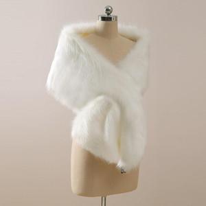 2021 Brasão do casamento do inverno nupcial Faux Fur Wraps Quente xales Casacos estilo coreano Mulheres Jacket Prom Evening Partido CPA3307
