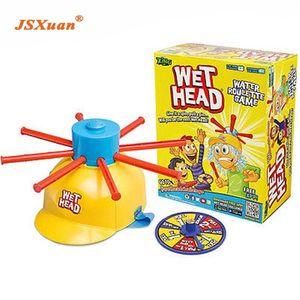 JSXuan nuovi genitori bambini Wet dell'acqua della testa di roulette del gioco della famiglia Divertimento del bambino Cappello Sfida Candid partito giocattolo divertente Q0115