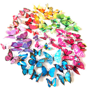 3D Simulated Butterfly Wall Sticker Home Background Decoration Art Craft For Home Room Daily and Festival Decorations