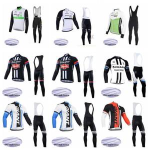 2020 Dimension Data Giant Team Велоспорт Зимние Термические ватки Джерси (Bib) Брюки Наборы дышащий Быстрый -dry Мужчины езда велосипедов Clothesk01