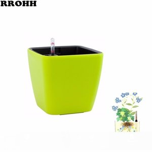 Creative Automatic Water Absorption flowerpot for Desktop Indoor Office decoration Large Plastic Lazy flower Pot Hydroponics CJ191226