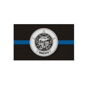 Minnesota ince mavi çizgi bayrağı 3x5 ft polis afiş 90x150 cm festival hediye 100D polyester kapalı açık baskılı bayraklar ve afiş