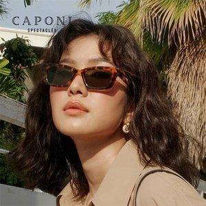 Caponi chat yeux lunettes de soleil pour femmes nylon lentille à la mode rétro Jennie Sunglasses 2020 Nouvelle Star Vintage Ombres Vintage CP1996
