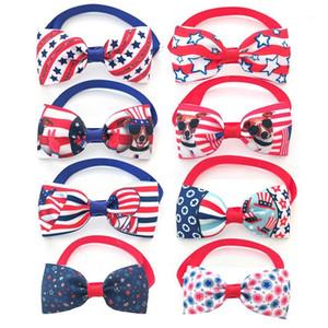 كلب الملابس 30/50 / قطع يوم الاستقلال الولايات المتحدة الأمريكية 4 من يوليو الحيوانات الأليفة بوتيز طوق القط صغير ربطة للكلاب منتجات الاستمالة المنتجات 1