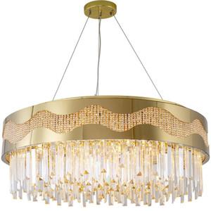 Новый Кри Led Gold Гостиная Украшение лампы Кристалл K9 лампы Ac 85 -265v Myy