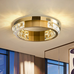 Modern Led Crystal Chandelier For Ceiling Living Dining Room Crystal Lamp Cricle Stainless Steel Cristal Lustre Lighting Fixture