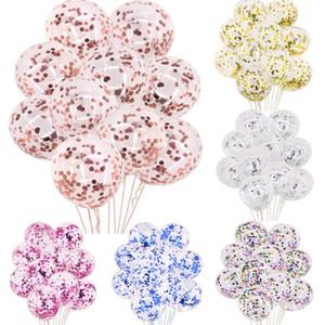 Compleanno Balloons Paillettes Balloon feste 12 pollici Magic Power carta Ritagli multicolore circolare decorazione di nozze 0 23yc F2