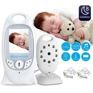 رصد الطفل اللاسلكي فيديو اللون للرؤية الليلية كاميرا أمن الطفل V601 درجة الحرارة الطفل Eletronica