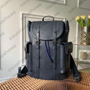 Christopher Mens Designer Rucksack Brieftasche Eclipse Reverse Große Kapazität Trend Aktentasche Handtaschen Reisetasche Leinwand Leder Business Totes