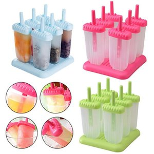6 Cells Summer Accessories Kitchen Tools Food Grade Lolly Mould DIY Ice Cream Maker Popsicle Molds Dessert Molds