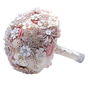 Rhinestone Wedding Bride Holding Flower 1 Bundle Beautiful Jewelry Brooch Bouquet Crystal Bride Holding Flowers