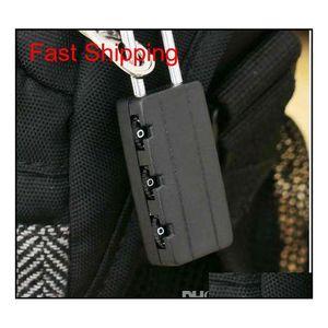 Cerraduras de combinación de seguridad negra de alta calidad Viaje bolsa de equipaje Candlock Gym Locke Qylgnn Bdenet
