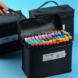 Marker Kalem Fırça Seti El Boyalı Tasarım Anime Öğrenci Dedicated Yağlı İşaretleyiciler Renkler Siyah Rod Acemi Sanat HHRk # Malzemeleri