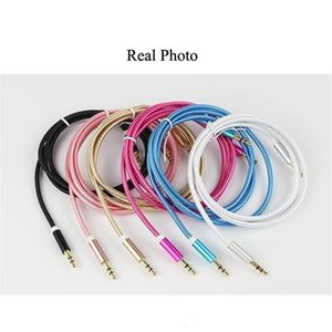 Aux 3.5mm 3.5 mm Nylon Wire Gold-plated Plug to Male Audio Cable With Package for Car Mobile Phone MP3   MP4 Headphone Speaker