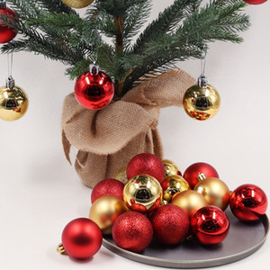 24pcs 3/4 / 6см Рождественская елка украшения шары безделушка Xmas Party висячие Болл украшения Новогодние украшения Главная Новый год Подарок DBC BH4349