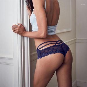 Fervor PE mujeres calzoncillos sexy encaje hurón medio envuelto cadera bajo cintura interior ropa interior bragas Lencería de damas A190631