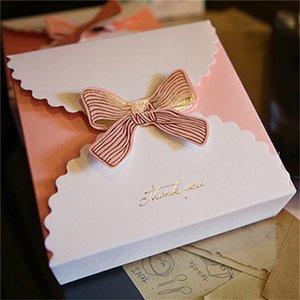 النمط الغربي أضعاف صناديق مجوهرات بطاقة بيضاء هدية حالة فراشة bowknot منظم مذهب صناديق المعجنات الحلوى الحاضر التعبئة الأزياء 0 75mz b2